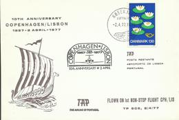 DINAMARCA  CARTA COPENHAGEN/LISBON - Dinamarca