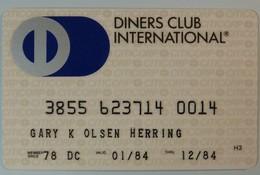 USA - Credit Card - DINERS CLUB INTERNATIONAL - CITICORP - 01.84 / 12.84 - Cartes De Crédit (expiration Min. 10 Ans)