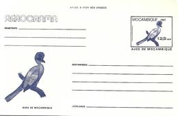 Mozambique 1987 - Postal Stationary Mint - Purple-crested Turaco (Tauraco Porphyreolophus - Coucous, Touracos