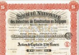 BELGIQUE-CONSTRUCTION EN BELGIQUE. Sté Nle Des Industries De Construction En ... - Other