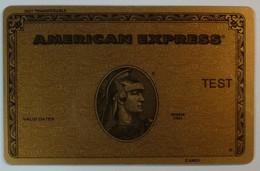 USA - American Express -Test Print - RARE - Cartes De Crédit (expiration Min. 10 Ans)
