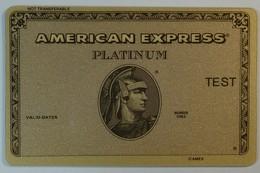 USA - American Express - Platinum Test Print - RARE - Cartes De Crédit (expiration Min. 10 Ans)