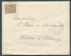 2c. Bistre-olive Obl. Dc LUXEMBOURG-VILLE Sur Imprimé (S.A. Du CASINO De Luxembourg - AG Du Mardi 27 Déc. 1898 Ordre Du - 1895 Adolphe Profil