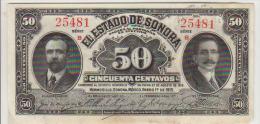 Mexico 50 Centavos 1915 Pick S1070 AUNC - Mexique