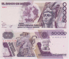 Mexico 50000 Pesos 1986 Pick 93 UNC - Mexique