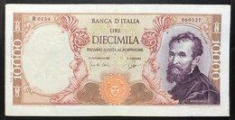 10000 LIRE MICHELANGEO BUONARROTI 27 07 1964 Raro  Bb/spl Pressato  LOTTO 151 - [ 2] 1946-… : República