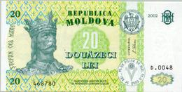 Moldova 20 Lei 2002 Pick 13 UNC - Moldavie