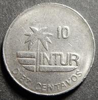 Cuba Intur 10 Centavos 1989 KM#415.3 Diameter 17 Mm Rare! - Cuba