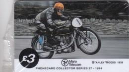 Isle Of Man, MAN 076, TT Racers 1994,  Stanley Wood, 2 Scans. Mint In Blister - Isla De Man