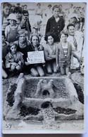Carte Photo Concours Des Plages 1935 Journal Le Matin Et CDRF Chateau De Sable Belle Animation - Places