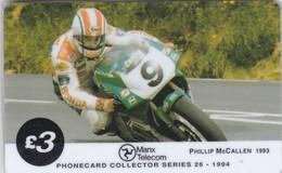 Isle Of Man, MAN 075, TT Racers 1994,  Philip Mccallen, 2 Scans. Mint In Blister - Isla De Man