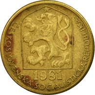Monnaie, Tchécoslovaquie, 20 Haleru, 1981, TTB, Nickel-brass, KM:74 - Tchécoslovaquie