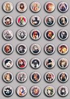 35 X ROCK STEVIE NICKS Music Fan ART BADGE BUTTON PIN SET 6 (1inch/25mm Diameter) - Music