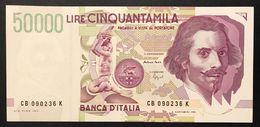 50000 Lire BERNINI II° TIPO SERIE B 1992 Fds  LOTTO.626 - [ 2] 1946-… Republik