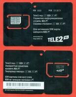 Kazakhstan. Plastic Card With A Sim-card.Phonecards Tele2. New Card. - Kazakhstan