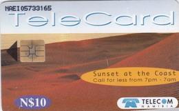 Namibia, NMB-076, Sunset 2, Sunset At The Coast 1, 2 Scans. - Namibia