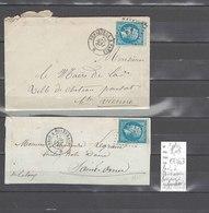 Lettre  Ambulant  Paris à Quiévrain Et Périgueux à Paris - 2 Piéces - Postmark Collection (Covers)