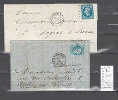 Lettre  Ambulant  Paris à Rennes - 2 Plis - Postmark Collection (Covers)