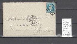 Lettre Ambulant Rennes à Paris - Indice 5 - 1869 - Postmark Collection (Covers)