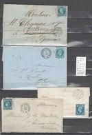 Lettre  Ambulant Toulouse à Bordeaux Et Périgueux à Toulouse -4 Plis - Postmark Collection (Covers)