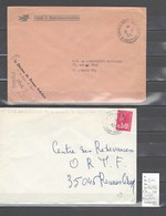 Lettre  Ambulant Bureau Ambulant  Pothion 525 Et 526 : 2 Plis - Postmark Collection (Covers)