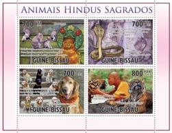 Guinea Bissau 2010  Holy Animals By Hinduism Tiger  Dogs Cobra Fauna - Guinea-Bissau