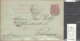 Carte Postale  Ambulant Bureau Ambulant Est - Indice 7 - Marcophilie (Lettres)