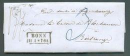 LAC De BONN 11-5-1855 En Port Dû Vers Birtrange (GD De Luxembourg), Via MERSCH Et Luxembourg . - 13545 - Germany