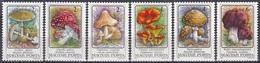 Ungarn Hungary 1986 Pilze Mushrooms Champignons Hongos Funghi Giftpilze Fliegenpilz Pantherpilz, Mi. 3871-6 ** - Ungarn