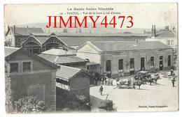 CPA - Vue De La Gare à Vol D'Oiseau, Place Bien Animée En 1917, Attellages - VESOUL 70 Haute Saône - N° 10 Ed. Rouchet - Gares - Sans Trains
