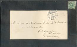 5pfg Obl. Dc SANCT FRANZ Sur Faire-part De Deuil (Alphonse Chapelle à Manom) Le 6-4-1899 Vers Birtrange Pr Diekirch . - - Allemagne