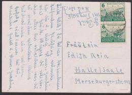 SBZ Provinz Sachsen 6 Pf(2) Bodenreform 1945, Bauer Mit Pferden Pflügt Acker MiNr. 90, Zigarettenpapier - Sovjetzone