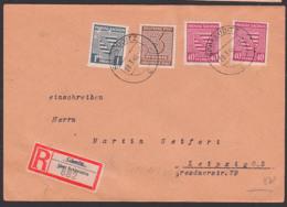 Schkeuditz, R-Zettel Von Glesin, Mi. 84X(2), 1 Pf. Mit Schürfungen, In MIF Mit 3 Pf Westsachsen, Portogenau, Rs.Eing-St. - Zona Sovietica