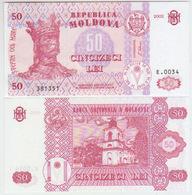 Moldova 50 Lei 2002 Pick 14 UNC - Moldavie