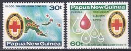Papua-Neuguinea New Guinea 1980 Medizin Medicine Rotes Kreuz Red Cross Blutspenden Blutbank Blood, Aus Mi. 394-7 ** - Papua-Neuguinea