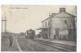 Cpa -   Dpt  -  Gard -  Aubais -    - La Gare    - Animation (  Selection  )  Rare 1910 - Autres Communes
