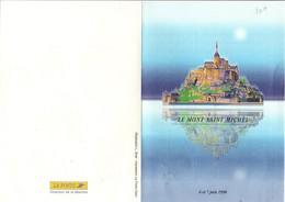 ENCART SOUVENIR 1 ER JOUR DU TIMBRE MONT SAINT MICHEL 1998 - Marcophilie (Lettres)