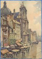 [75] PARIS - Rue Saint-Antoine Et L'Eglise Saint-Paul - Peintures & Tableaux