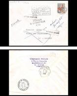 Lettre-0684 Bouches Du Rhone N°1331a Coq Retour à L'envoyeur Adresse Incomplète Logis Neuf Pour Allauch 1966 - Postmark Collection (Covers)