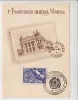 1ER EXPOSITION PHILATELIQUE MUNICIPAL - RIO DE JANEIRO - 1949 - V/IMAGE - Lettres & Documents