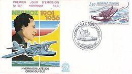 FRANCE Poste Aérienne 56 FDC Pilote Jean MERMOZ Hydravion LATECOERE 300 Croix-Du-Sud - FDC