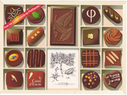 """Chocolat Chocolate Mint Sheet France """"Carré D'encre"""" =  French Post Office - Alimentación"""