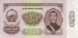 Mongolia 25 Tugrik 1966 Pick 39 UNC - Mongolia