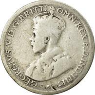 Monnaie, Australie, George V, Sixpence, 1916, Melbourne, TB, Argent, KM:25 - Monnaie Pré-décimale (1910-1965)