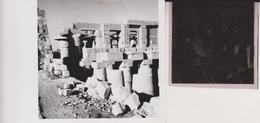 TEMPLE OF KARNAK LUXOR EGYPT Celluloid Photo Negative Contact Photographs Negatives Cynthia Ellis Egypte AFRICA - Africa