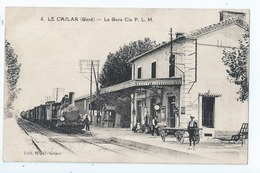 Cpa -   Dpt  -  Gard -  - Le Cailar    - La Gare    - Animation (  Selection  )  Rare 1931 - Altri Comuni