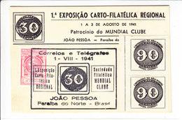 1ER EXPOSITION PHILATELIQUE - JOAO PESSOA - 1.08.1941 - V/IMAGE - Lettres & Documents