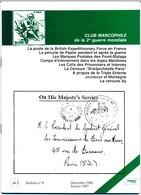 Club Marcophile De La Seconde Guerre Mondiale - Bulletin N° 8 - Décembre 1986 - Janvier 1987 - Military Mail And Military History