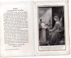 """Canivet, Holly Card N°60,  , Image Pieuse Dentelle """"Notre Dame De La Vie Cachée, Enfant De Marie...."""" 8 X12 Cm, - Religione & Esoterismo"""