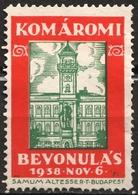 Komárom Komarno Hungary Slovakia Revisionism CINDERELLA VIGNETTE LABEL Samum Altesse Cigarette Paper Cigar Box Industry - Other